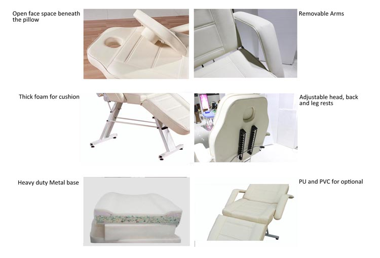 hot sale portable cheap massage table with manual adjustment 8201