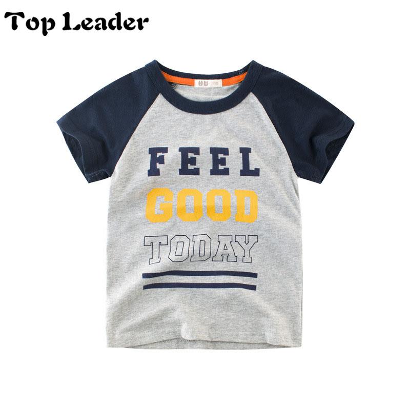Children T-Shirt Boys Summer O--neck Shirts Cotton Short Sleeve Casual Top kids