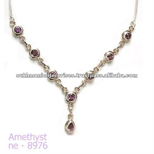 Beautiful silver necklace jewelry for women latest fashion trends by Sukhmani enterprises
