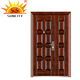 SC-S173 cheap modern elegant son mother steel security door meeting room door