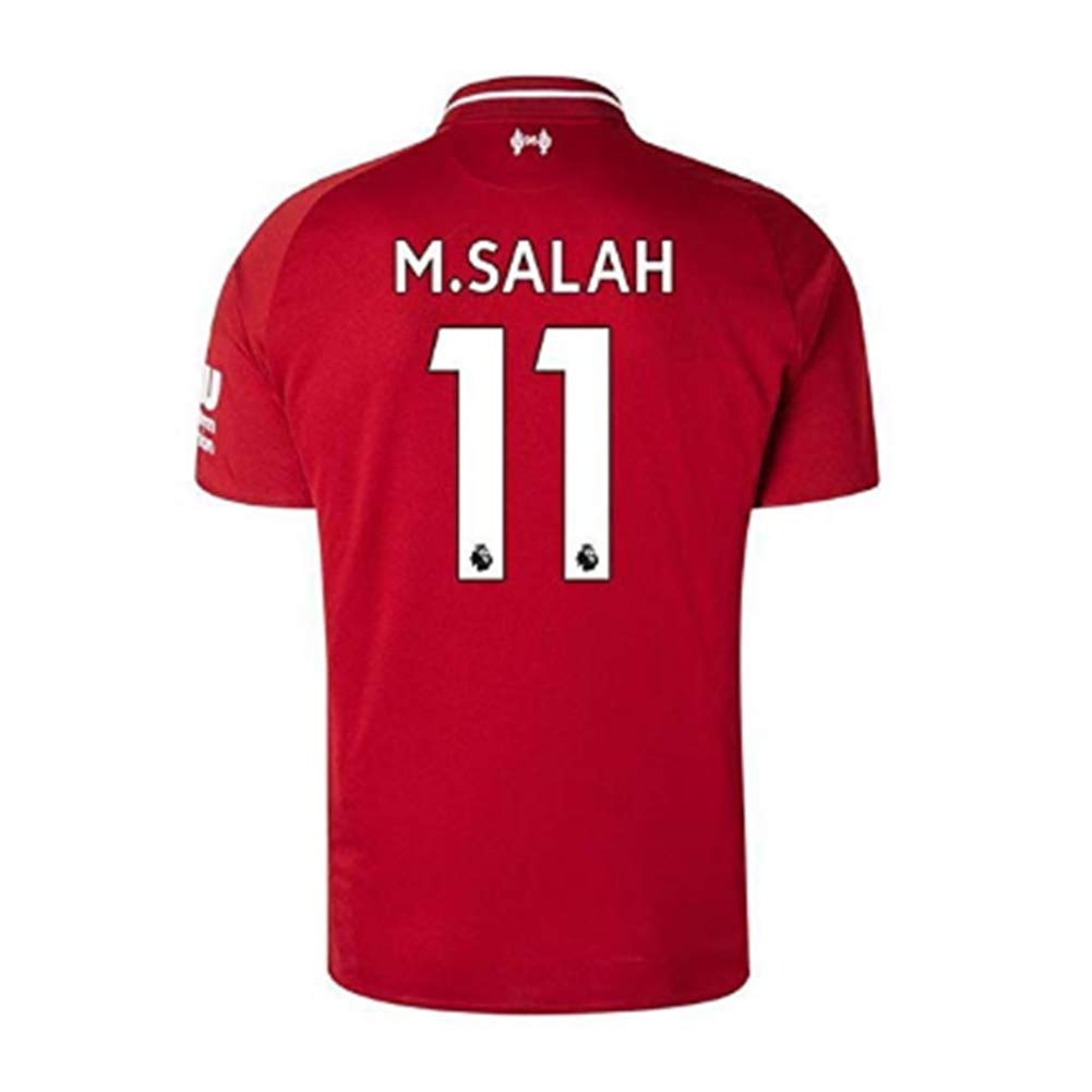 #11 M Salah Liverpool Home 2018-2019 Mens Soccer Jersey Red