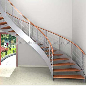Curved Stairs Grill Design, Stainless Steel Baluster Railing Curved  Staircase