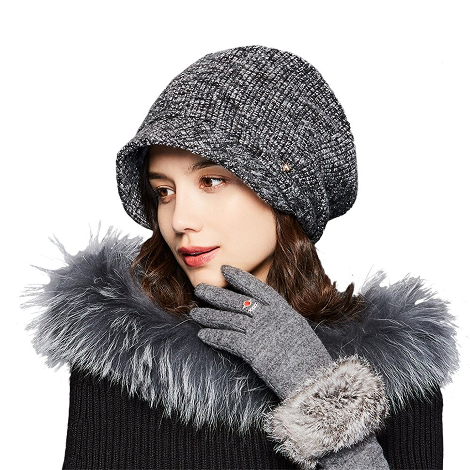 Get Quotations · Kenmont Women s French Beret Hat Knit Slouchy Beanie Ski  Winter Hats 8bcc547957f8