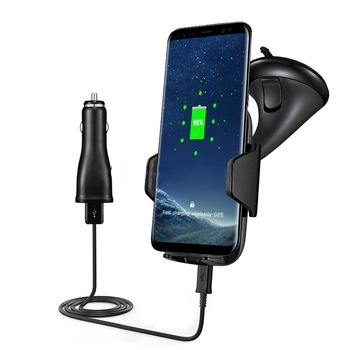 Laputa 2017 new fast charge qi standard car wireless charger for S8,Note8, iphone8, iphoneX