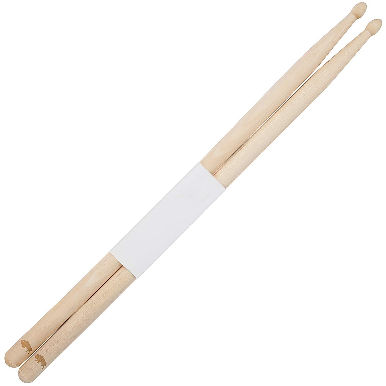 Buffalo 5B Maple Drumsticks With Laser Engraved Design - Durable Drumstick Set With Wooden Tip - Wood Drumsticks Gift
