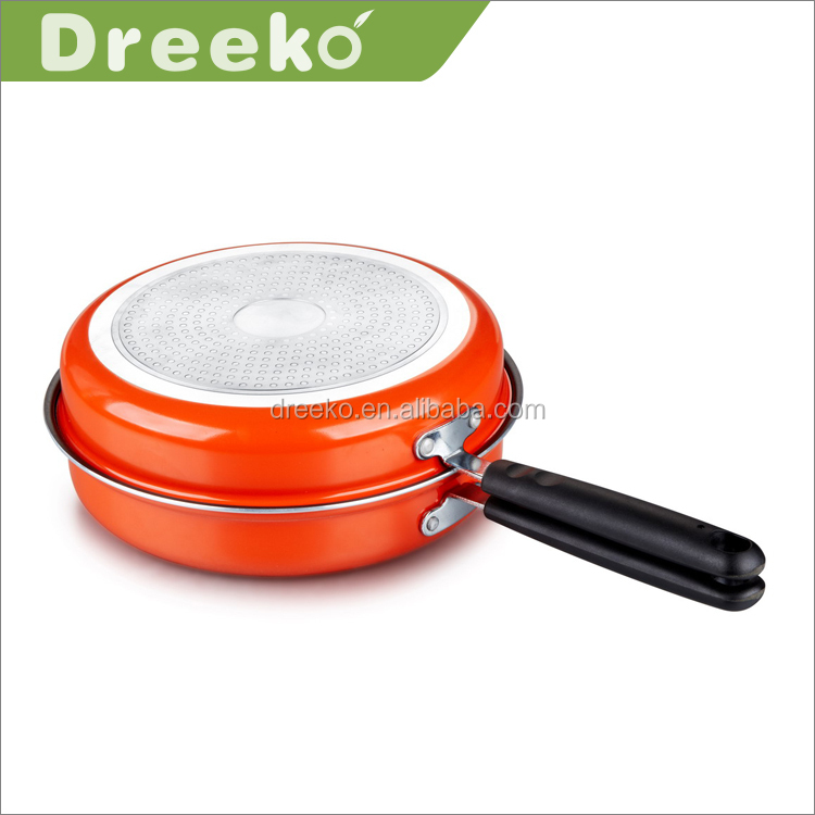 Aluminum Round Double Divided Sided Frying Pan
