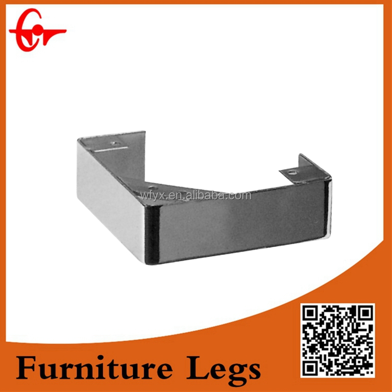 triangle smooth well finished horizontal chrome cabinet/sofa leg
