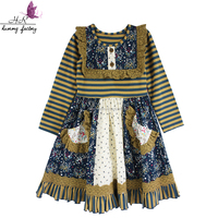 New Striped Cotton Dress Fashion Lovebaby Suitable For Casual Occasion Dress For Kids Girls