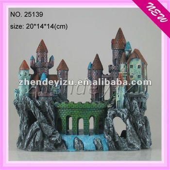 wholesale fish tank aquarium decoration of resin castle large ornaments