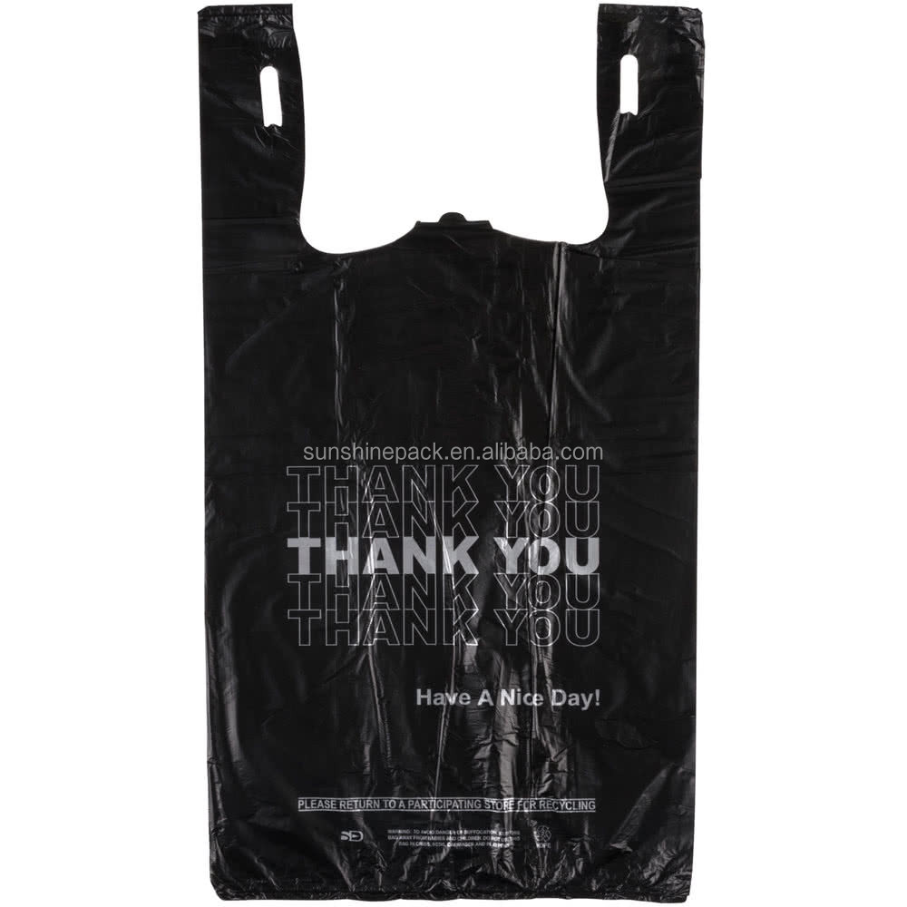 Black t shirt carryout bags - Black T Shirt Carryout Bags 18
