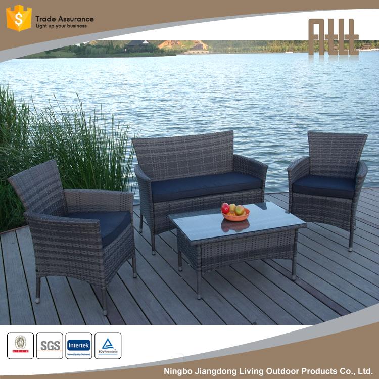 Wholesale poly rattan sofa cushion covered garden line outdoor furniture dubai patio furniture AWRF6114,outdoor furniture patio