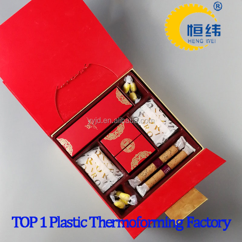 Food grade blister PVC plastic container for wedding candy packaging, gifts use