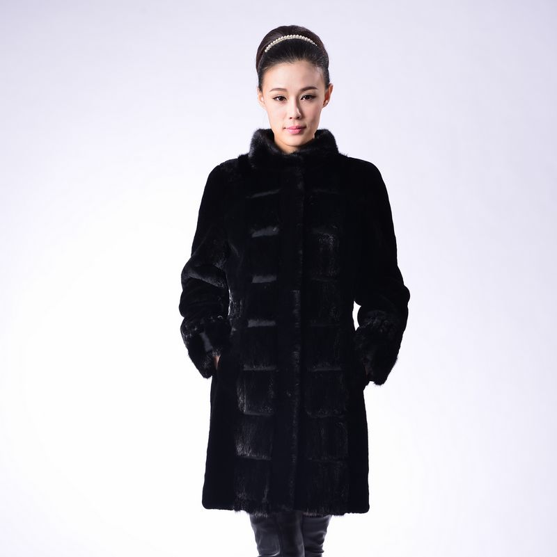 Sheep fur overcoat fur one piece women's genuine leather stand collar Women sheep shearing women's leather clothing outerwear