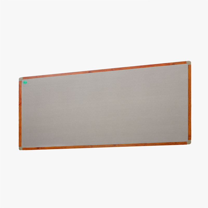 Factory supply muur opknoping message board stof bedekt grijs bulletin board met pin