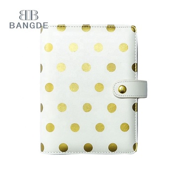 Metallic Gold Polka Dot agenda 2017 2018 day organizer planner notebook