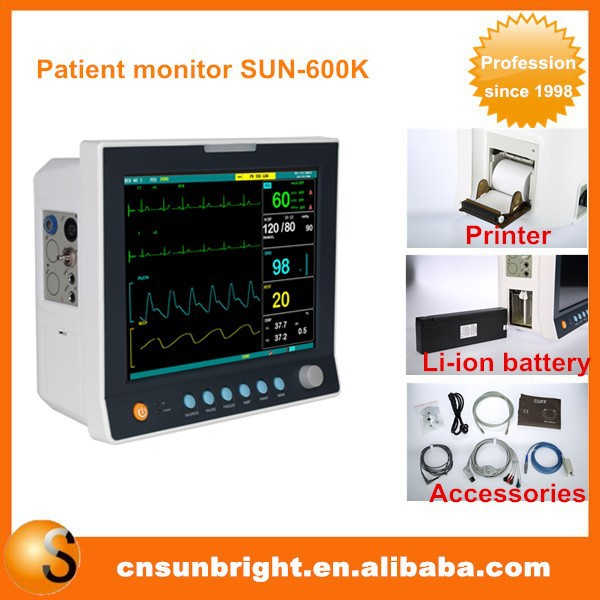 Patient monitor Newest Medical Equipment 12.1 inch multi parameter bedside patient monitor