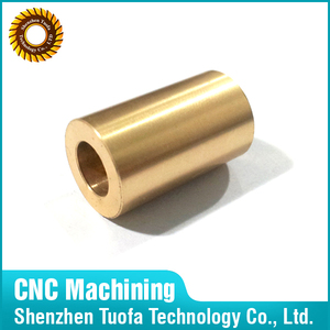 Custom made precision OEM cnc turning Brass Pipe Bushing in China
