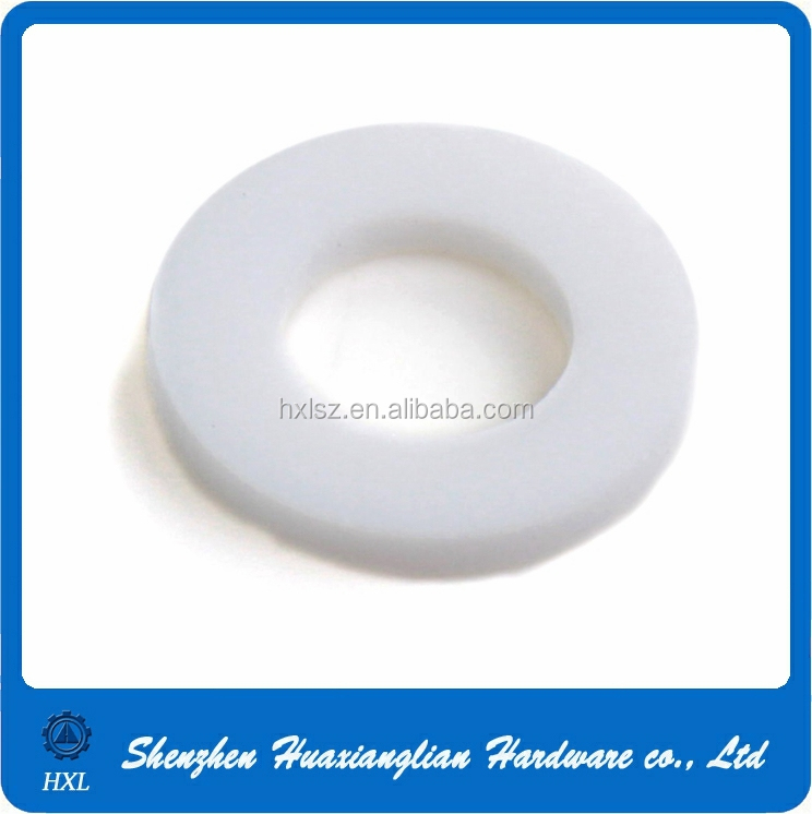 3mm 4mm 5mm 6mm 12mm clear white nylon plastic derlin flat washer