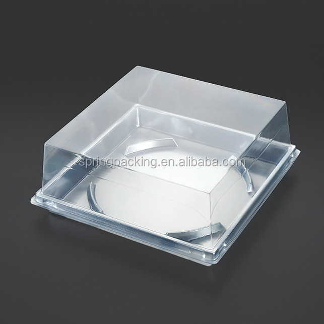 High quality plastic food packaging cake boxes