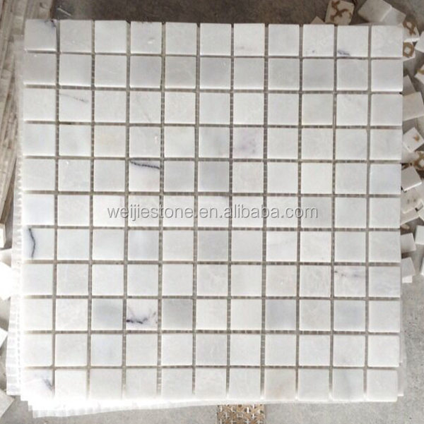 Crystal White Marble Tile Lowes Polished Chinese Carrara Mosaic Factory Low Price