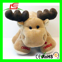 Canada Big Foot Moose 9 inch Plush Promotional Animal Doll stuffed deer toy