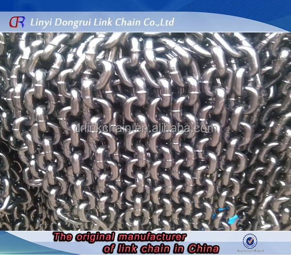 Silver long link chain Din 766 Galvanized zinc plated link chain