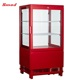 58L Colorful Flat Double Glass Countertop Displays Fridge