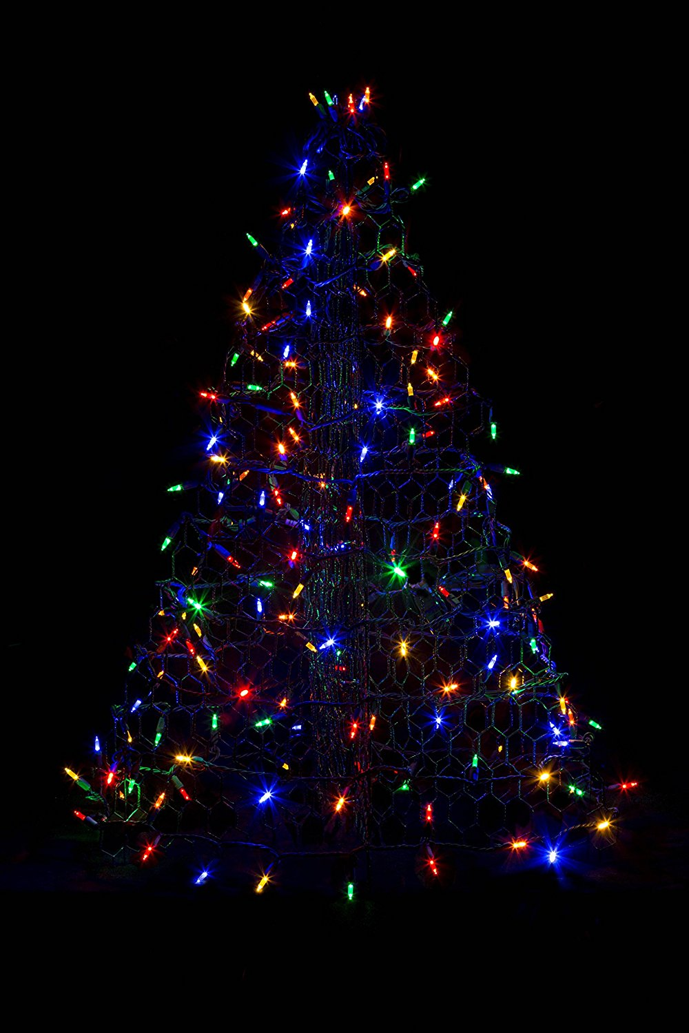 3' Crab Pot Christmas Tree with 160 Multicolor LED Mini Lights