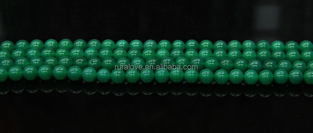 Hot selling gemstones green agate beads