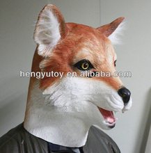 Eco-friendly Realistic High Quality rubber halloween mask Fancy Dress Rubber Latex Full Face Fox Mask for Party