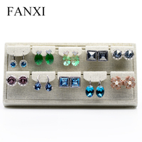 FANXI China Wholesale Decorative Linen Hanging Earring 10Pairs Ear Stud Display Shelf For Jewelry Store Display Jewellery