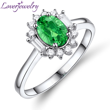Best Sale Natural Emerald Band Rings Dimond Ring Gold Emerald In