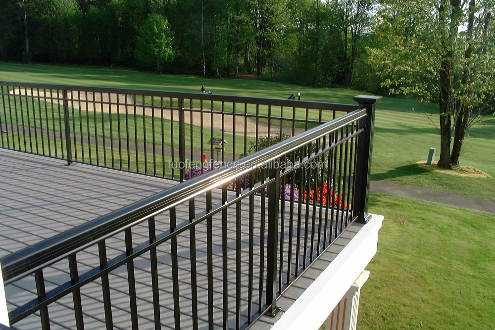 Security railing customed decorative top selling