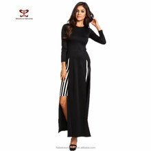 2016 New design Europe and the United States foreign trade Black color show thin elegant women evening gown dress