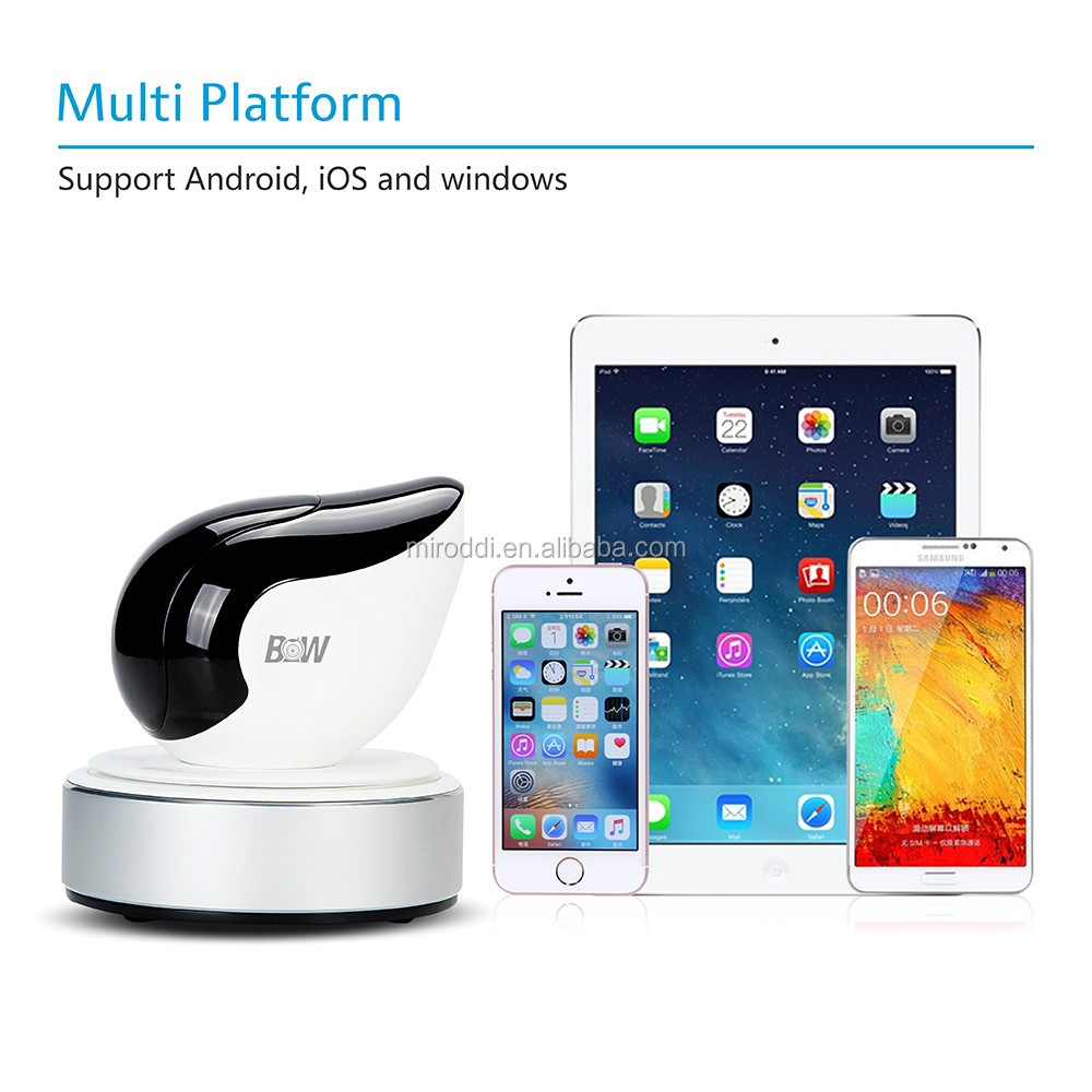 Excellent security product home security alarm system iOS / Android remote control ip camera