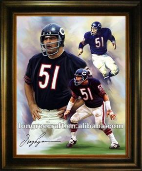 chicago bears coltellinaio nfl pittura oli