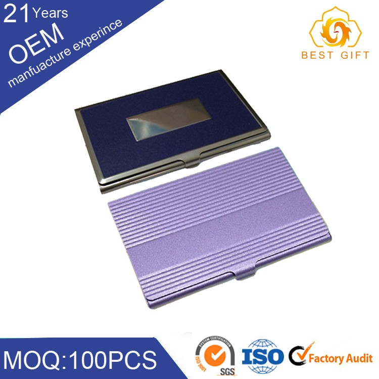 Bestgift Stainless Steel Cardbord Business Name Card Case Holder