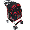 portable oxford pet stroller 4 wheels dog cat carrier stroller small animals outdoor travel pet trolley