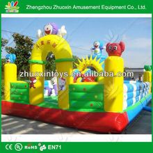 2013 hot newly promotional kids house shape commercial pvc inflatable bouncy castle with water slide