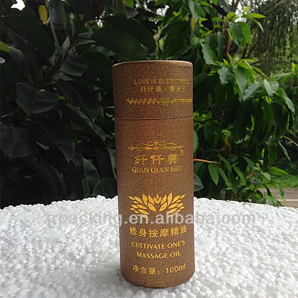 Custom round/empty/airtight/disposable cultivate massage oil paper cans