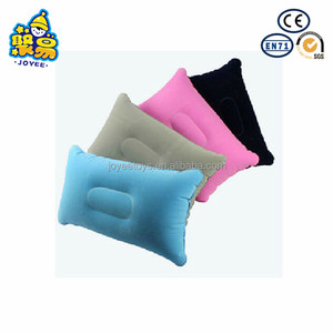 PVC customized OEM back rest inflatable flocking sleeping pillow