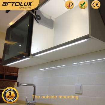 Kitchen Undercounter Lighting Cabinet Handle Free Led Light Bar