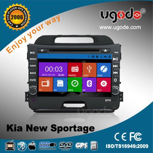 2 din in dash car DVD for KIA sportage with DVD GPS radio bluetooth, new win8 UI