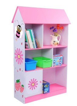 New Arrival Children Wooden Dollhouse Bookcase Kids Furniture