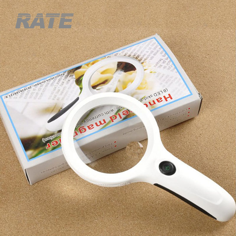 Handheld Magnifier with 8LED and UV Lamp for Reading