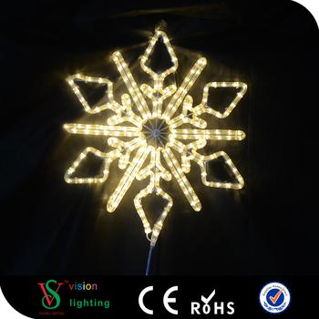 Led Lighting Sculpture Warm White Snowflake Light