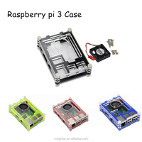 ( Wholesale )High quality New Official Raspberry Pi 3 Case/ 9 Layers Acrylic Case for Raspberry Pi 3 Model B