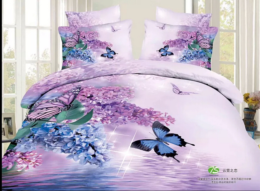 Twin Full Queen Size 3d Purple Bedding Sets Full Size