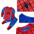 Childrens Kids Spiderman Costume Superman Long Sleeve Top Pants Winter Gift