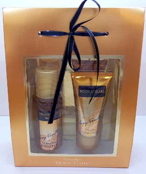 OEM private label 75 ML GEUR MIST + 57 ML BODY CREAM gift set voor Kerst
